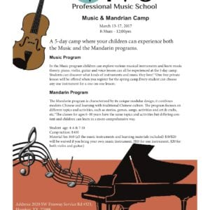 2017 Spring Music and Mandarin Camp